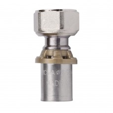 Пресс-фитинг SEMPITER® c вращающейся гайкой для подключения к коллекторам и вентилям. ICMA арт.415